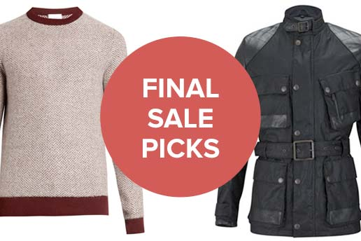 Final Menswear Sale Picks with at least 60% off