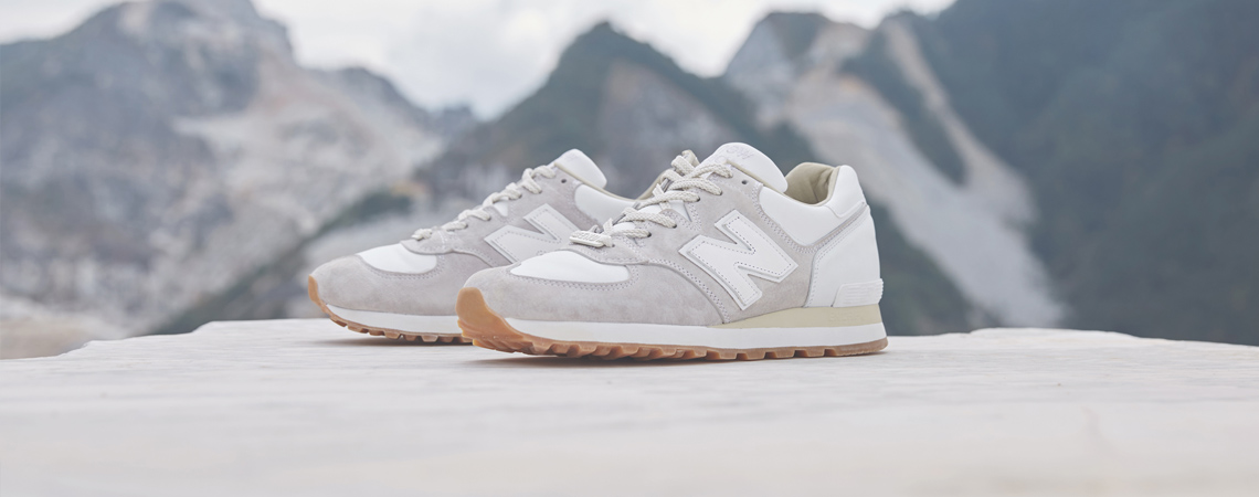 END. x New Balance M575END White Marble